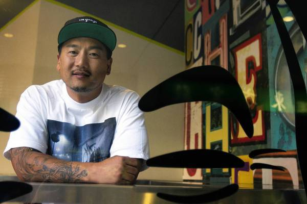 Roy Choi, co-founder of Kogi and owner of Chego, at Chego restaurant in Chinatown.