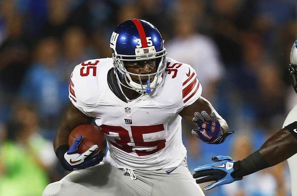 New York Giants running back Andre Brown (35) could get a lot of action the rest of the season.