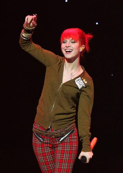 Lead singer Hayley Williams, pictured, and Paramore will perform Tuesday at CFE Arena in Orlando.