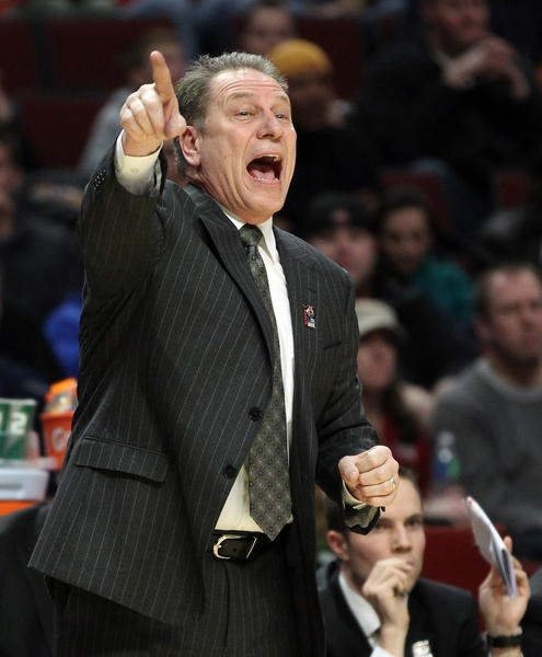 Michigan State coach Tom Izzo likes the fact that his team is expected to be No. 1 in the Big Ten.