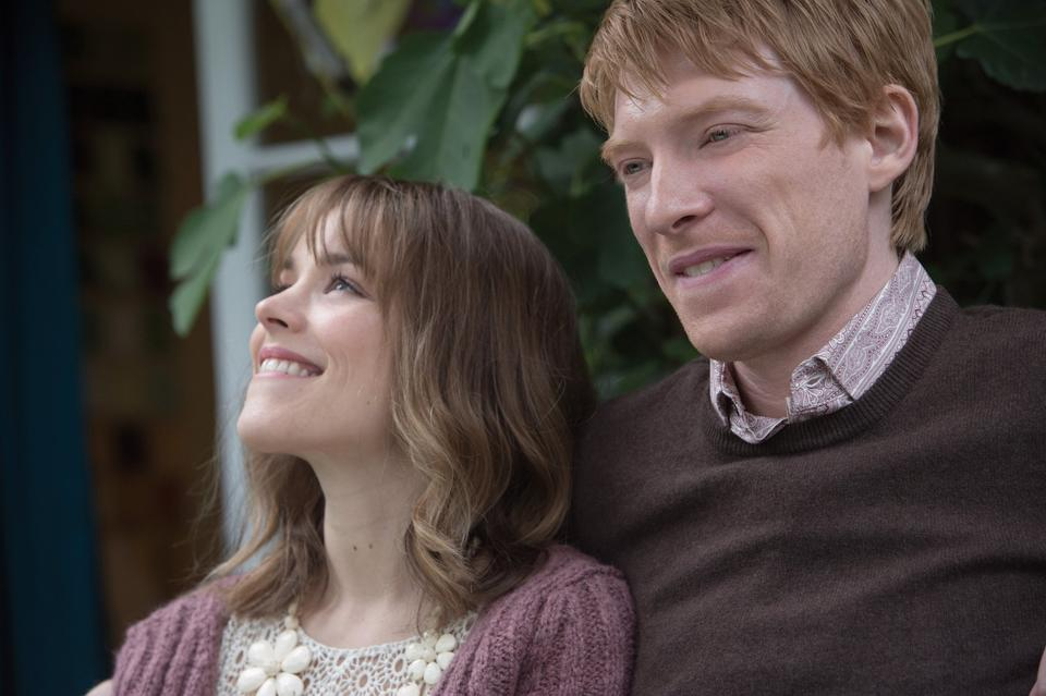 "Mary (Rachel McAdams, left) and Tim (Domhnall Gleeson) star in ""About Time."" (Courtesy Murray Close/MCT)"