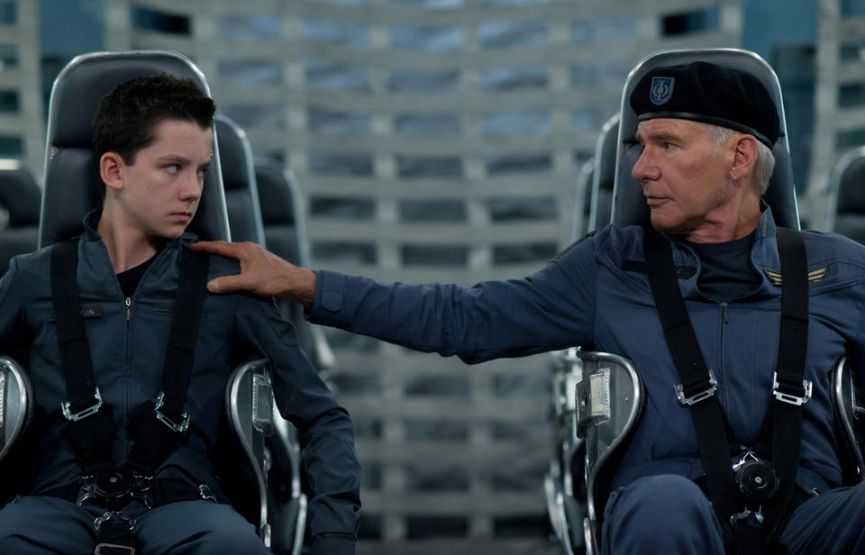 """Asa Butterfield and Harrison Ford star in """"Ender's Game."""""""