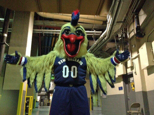 The New Orleans Pelicans reveal their new mascot.