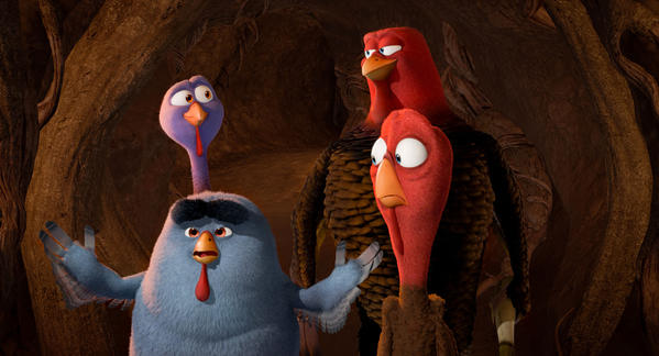 "Carlos Alazraqui, Owen Wilson and Woody Harrelson lend their voices to ""Free Birds."""