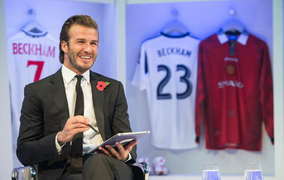 David Beckham Global Book Signing On Facebook