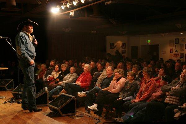 Poet Waddie Mitchell performs at the 2009 National Cowboy Poetry Gathering in Elko, Nev.