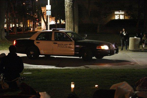 Prosecutors have concluded that a Santa Ana police officer who fatally shot a man in the back of the head in 2010 was legally justified. Above, a Santa Ana police car on patrol.