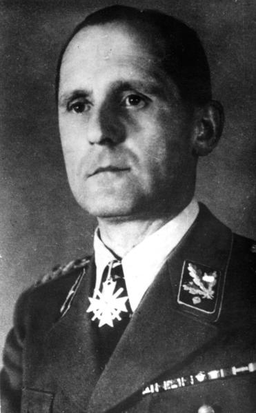 An undated file photo of Gestapo chief Heinrich Mueller, whose unknown fate after World War II led to rumors that he had survived and escaped to South America with other fugitive Nazis. A German historian is reported to have confirmed through documentary research that Mueller died in the final days of the war and was later buried in the Berlin-Mitte Jewish cemetery.