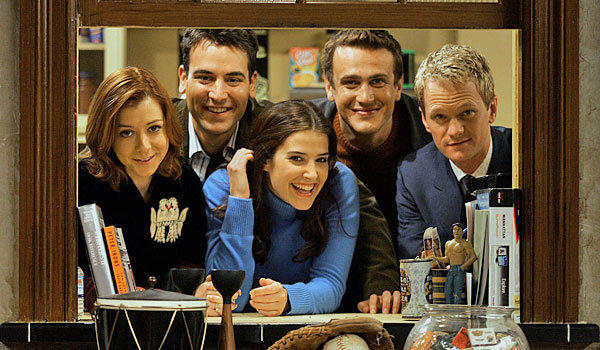 "From left, Alyson Hannigan, Josh Radnor, Cobie Smulders, Jason Segel and Neil Patrick Harris of ""How I Met Your Mother."""