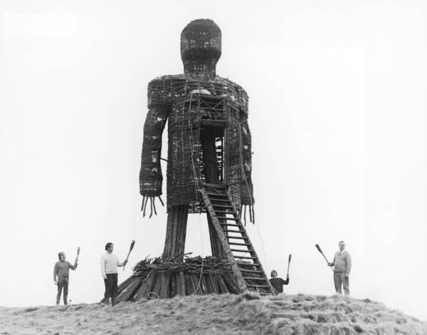 """A scene from """"The Wicker Man,"""" filmed on location in Scotland in 1973."""