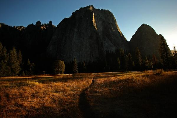 In her first major speech, new Interior Secretary Sally Jewell criticized the National Park Service for closing cherished monuments during the partial government shutdown. Above, a path leads to Middle Cathedral rock at Yosemite National Park.