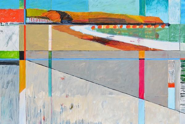 """""""Constructions,"""" an exhibition of new paintings by Laguna Beach artist Brenda K Bredvik, opens Saturday with a public reception for the artist from 5 to 8 p.m."""
