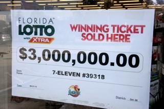 A Florida man has won two multimillion-dollar lotto jackpots from tickets purchased at the same 7-Eleven store.