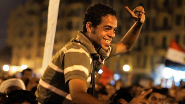 Cameras in Cairo's Tahrir Square had an intimate vantage point on the emotion and tumult in Egypt.