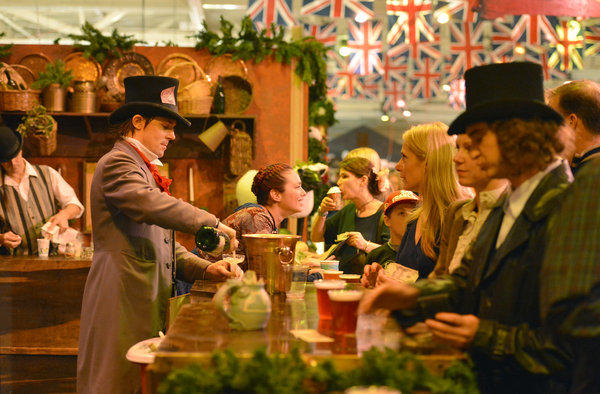 Four authentic English pubs and the Bohemian Absinthe Bar serve up fine glasses of Christmas cheer at the Great Dickens Christmas Fair & Victorian Holiday Party. The fair opens Nov. 23.