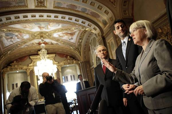 Budget conference committee members Sen. Jeff Sessions, R-Ala., from left, Rep. Paul Ryan, R-Wis., and Sen. Patty Murray, D-Wash., need to keep their focus on the government's unsustainable spending.