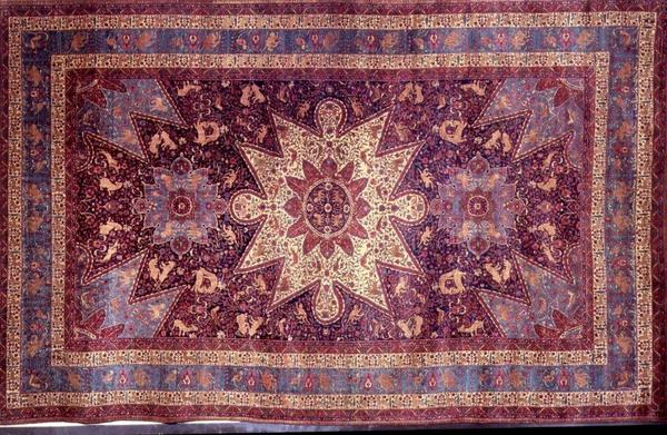 Armenian refugee orphans wove this rug, pictured, in 1920 and gave it as a gift to President Calvin Coolidge in 1925 to thank Americans for their humanitarian support following World War I.
