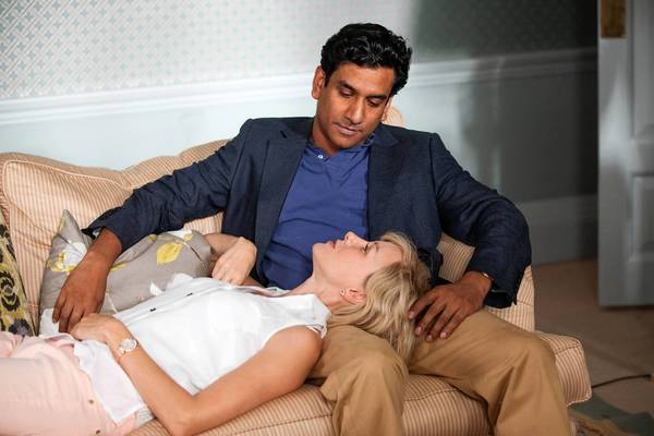"Naveen Andrews and Naomi Watts in ""Diana."""