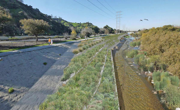 The plan to revitalize the Los Angeles River is supported by the Glendale City Council. It would add more vegetation and redirect the river around a curve.