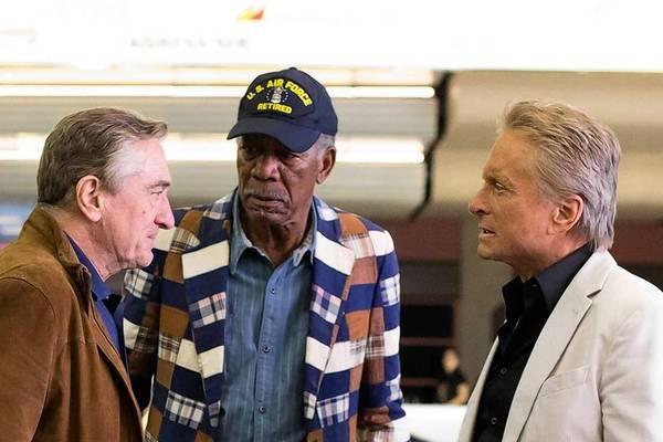 Kevin Kline, Robert De Niro, Morgan Freeman and Michael Douglas in familiar comedic territory.