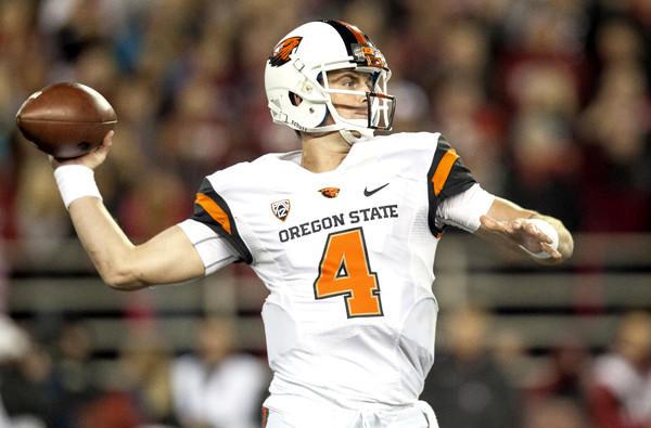 Oregon State quarterback Sean Mannion attempts a pass against Washington State earlier this season.