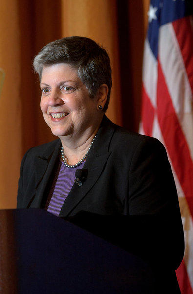 "UC president Janet Napolitano announces new funding plans for ""Dreamer"" students."
