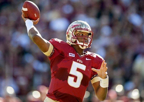 Quarterback Jameis Winston and Florida State are prohibitive favorites in their matchup with Miami on Saturday in a meeting of 7-0 teams.