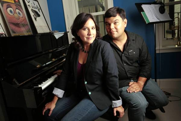 "Songwriters Kristen Anderson-Lopez and Robert Lopez collaborated on the Disney animated release ""Frozen."""