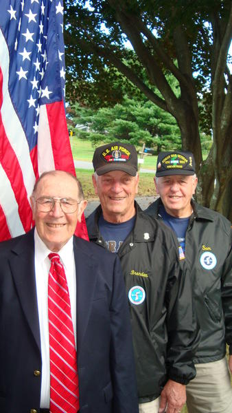 Left to right, Sam Jacobellis, Brendan Sniffin and Edward Post, members of the Greater Danbury Chapter 11 - Korean War Veterans. Jacobellis is one of five grand marshals in the Connecticut Veterans Parade on Sunday. Sniffin is the Danbury chapter commander.