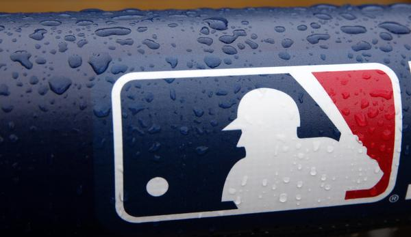 The Major League Baseball logo.
