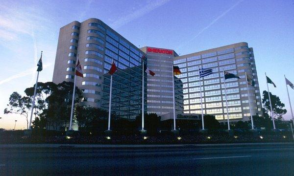 The Sheraton Gateway hotel on Century Boulevard, shown here in an undated handout photo, includes 802 rooms.