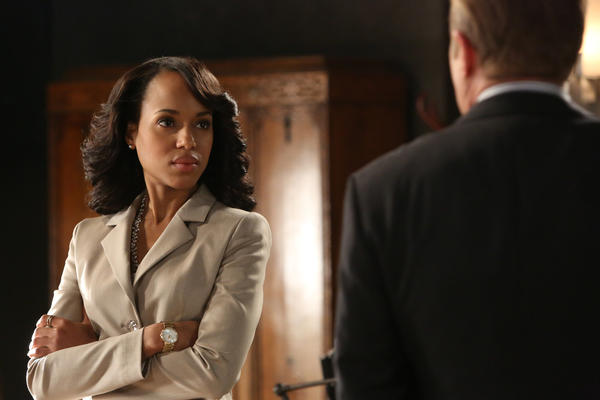"Kerry Washington, shown here in a scene from ""Scandal,"" is set to host ""Saturday Night Live."""