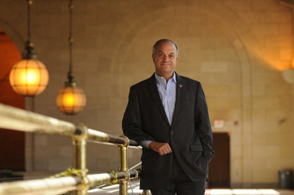 New Haven Mayor John DeStefano at Union Station in New Haven. The Mayor will be leaving his job but staying in New Haven to help open an investment bank.