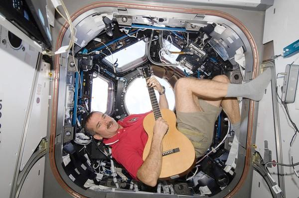 Chris Austin Hadfield, a retired Canadian astronaut who was the first Canadian to walk in space, says he kept in shape with a workout machine and other exercise.