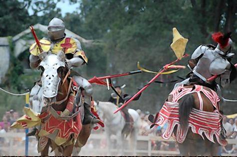 New Riders of the Golden Age from War Horse Farm in Sarasota, Florida, which has been jousting professionally since 1982 and have appeared at Renaissance festivals.