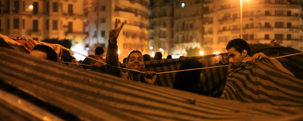 "A scene from the documentary ""The Square,"" about the revolution in Egypt."