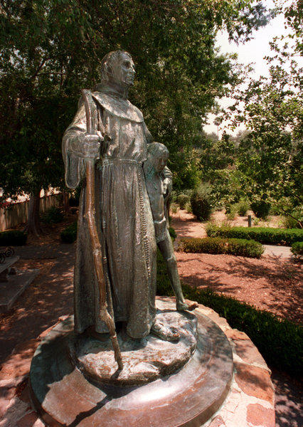 """Father Junipero Serra"" at Brand Park in San Fernando."