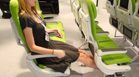 French-based Airbus recommends that airline seats be a minimum of 18 inches wide.