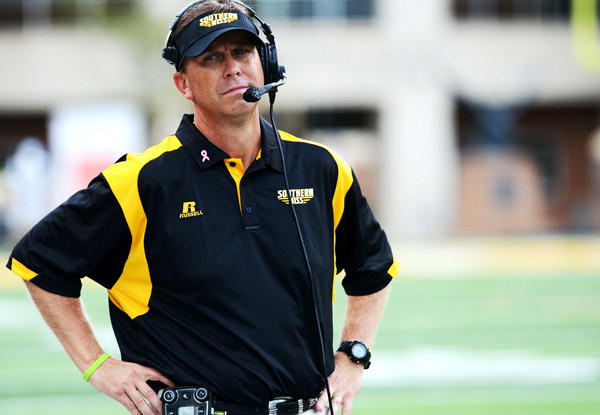The Southern Miss Golden Eagles, coached by Todd Monken, shown during a game against Florida International last month, suffered their 20th consecutive loss on Saturday.