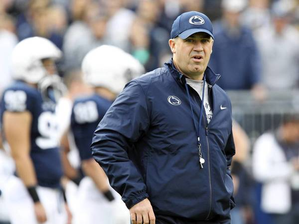 Nov 2, 2013; University Park, PA, USA; Penn State Nittany Lions head coach Bill O'Brien walks on the field prior to the game against the Illinois Fighting Illini at Beaver Stadium.