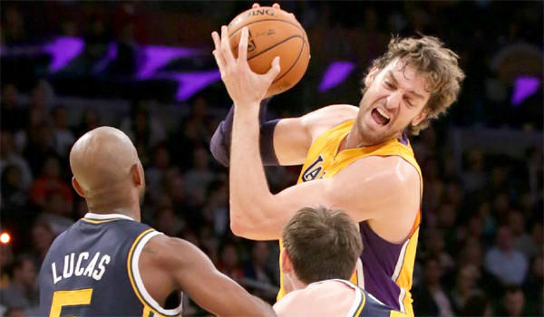 The Lakers are relying on the steady production of Pau Gasol while Kobe Bryant recovers from his torn Achilles' tendon.
