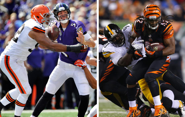 From the Super Bowl-champion Ravens to the upstart Cincinnati Bengals, it's never easy going in the AFC North.