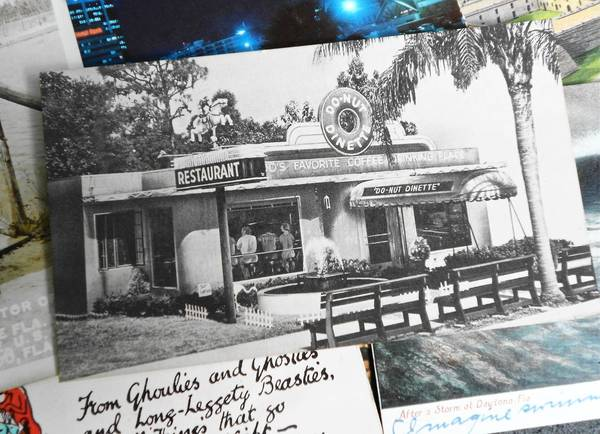 "A postcard showing the Do-Nut Dinette, ""Orlando's Favorite Coffee Drinking Place,"" was among the collectible treasures found at a recent show and sale of the Sunshine Post Card Club in Tampa."