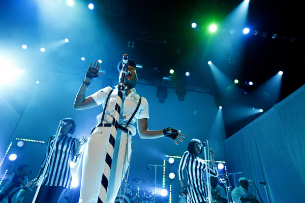 Janelle Monáe performs at Club Nokia in Los Angeles on Nov. 2, 2013.
