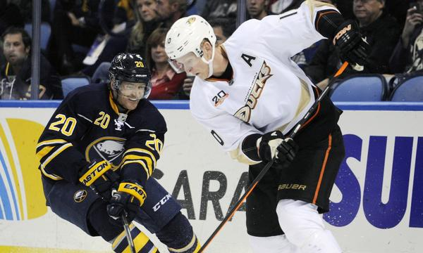 Ducks forward Corey Perry scored two goals in a 6-3 win over the Buffalo Sabres on Saturday.