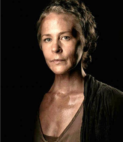 "Carol (Melissa McBride) from AMC's ""The Walking Dead."""