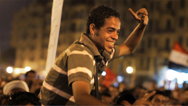 "Netflix is making its first major film acquisition with ""The Square."" Above, a scene from the film, which documents the Egyptian revolution born in Tahrir Square."
