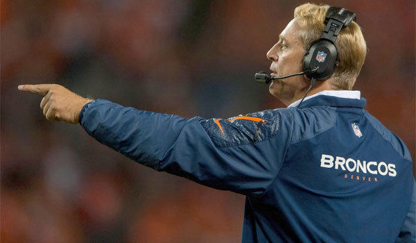 Denver defensive coordinator Jack Del Rio will take over head coaching duties on an interim basis while John Fox recovers from heart surgery.