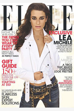 "Lea Michele of ""Glee"" opens up about late boyfriend Cory Monteith's death in the November 2013 issue of Elle magazine."