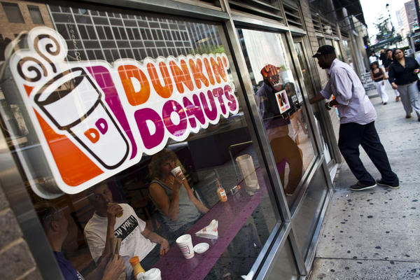 A Dunkin' Donuts store in Manhattan. A store opened in Barstow on Monday, making it the only Dunkin' Donuts store in California readily accessible to civilians.